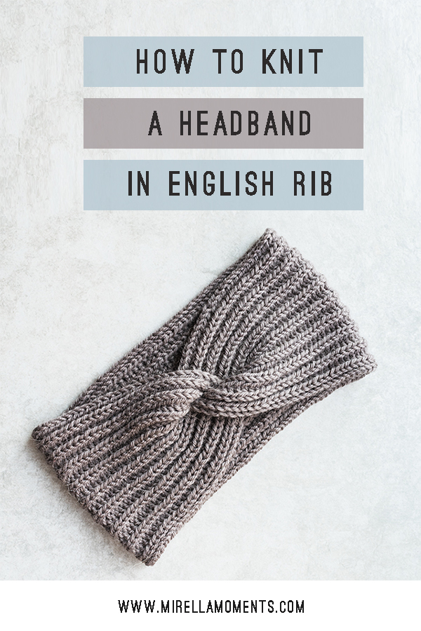 Headband In English Rib With A Twist