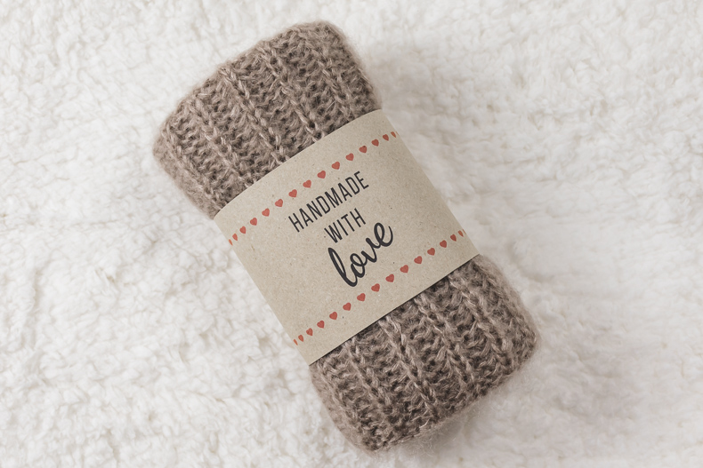 This is an image of Printable Crochet Labels inside grandma survival gift