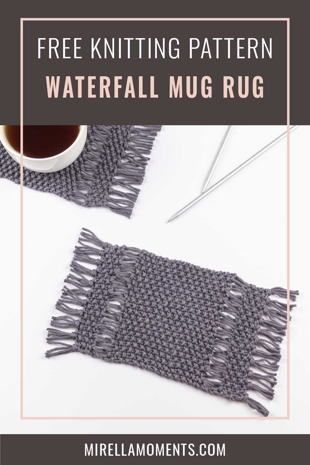 Waterfall Rug Mug Knitting Pattern Mirella Moments